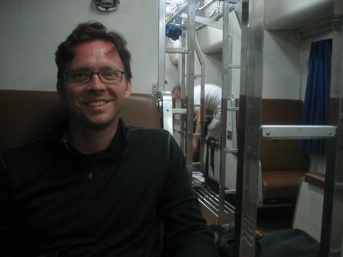 Dag on train