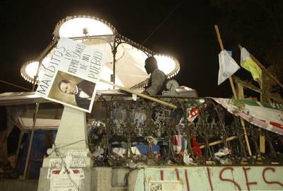 Imagen del palacio del gobierno, donde los agentes desmontaron el plantón que la APPO mantuvo ahí durante cinco meses