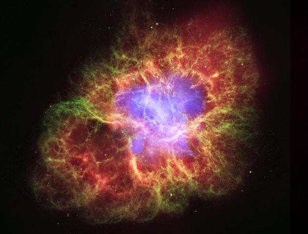 蟹狀星雲的組合影像