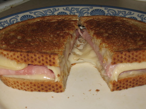 The best-looking ham'n'cheez sandwich E-V-E-R!