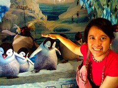 Toni with the Happy Feet Penguins