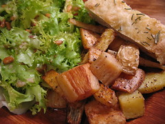 roasted parsnips and potatoes