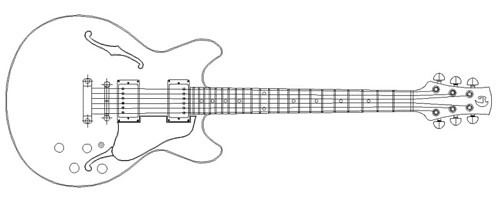 Guitar Designs Drawings i Used a Cad Package to Draw