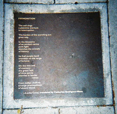 Lucha Corpi's Poetry Plaque - Poets' Way, Berkeley