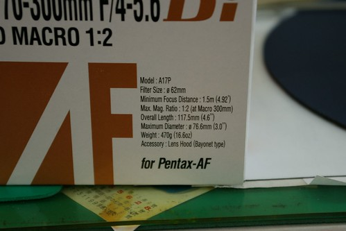 [新手分享]TAMRON AF 70-300MM F/4-5.6 Di LD Macro 1:2