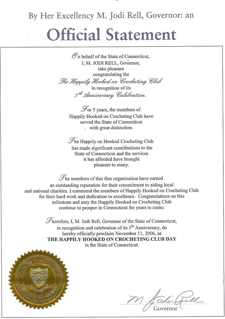 Proclamation Nov 11, 2006