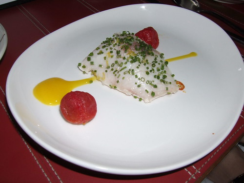 Degustation (New York) - Kampachi w/ Mango, Cherry Tomato, & Thai Chili