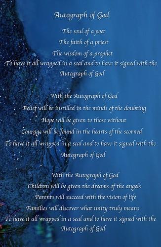 Autograph of God