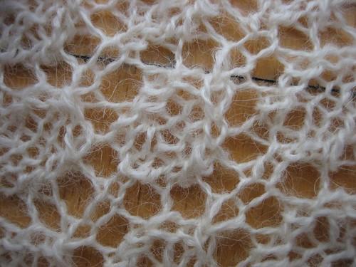 Swallowtail shawl, detail