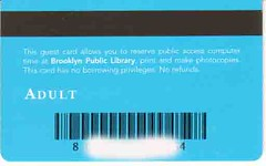 brooklyn lib card back