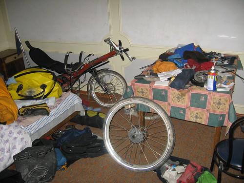 Messy room in Samarkand, Uzbekistan