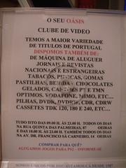 Caixa dos DVDs do Video Clube Oásis - interior, topo