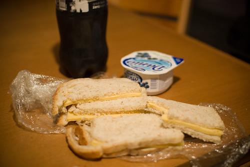 Boterhammen met kaas en Danino