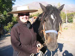 Meg with her horse