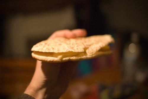 Pitta met raclettekaas