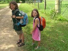 Kids headed home from school