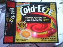 box of Cold-Eeze lozenges