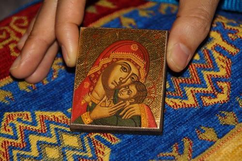 聖母與聖嬰像磁鐵