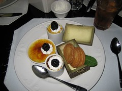 The Blue Bayou's Tortuga Trio of Crème Brûlée, in a supposedly edible trunk. (11/19/06)